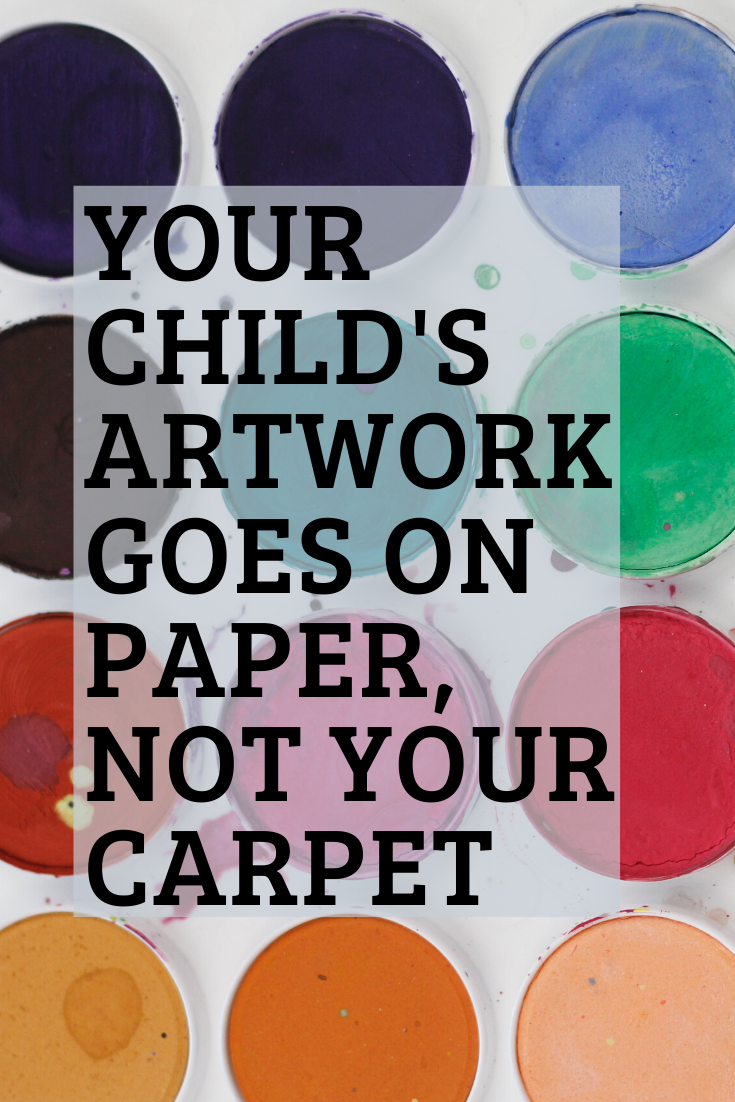 Your Child's Artwork Goes on Paper, Not Your Carpet Pristine Chem-Dry